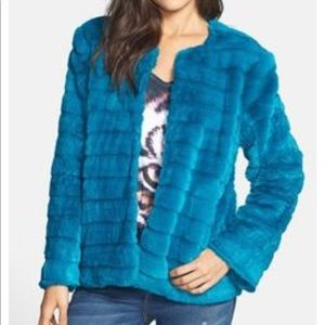 Mural Jackets & Coats - Mural faux fur jacket